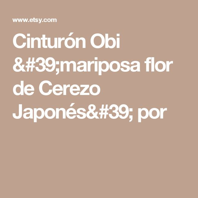 Cinturón Obi 'mariposa flor de Cerezo Japonés' por