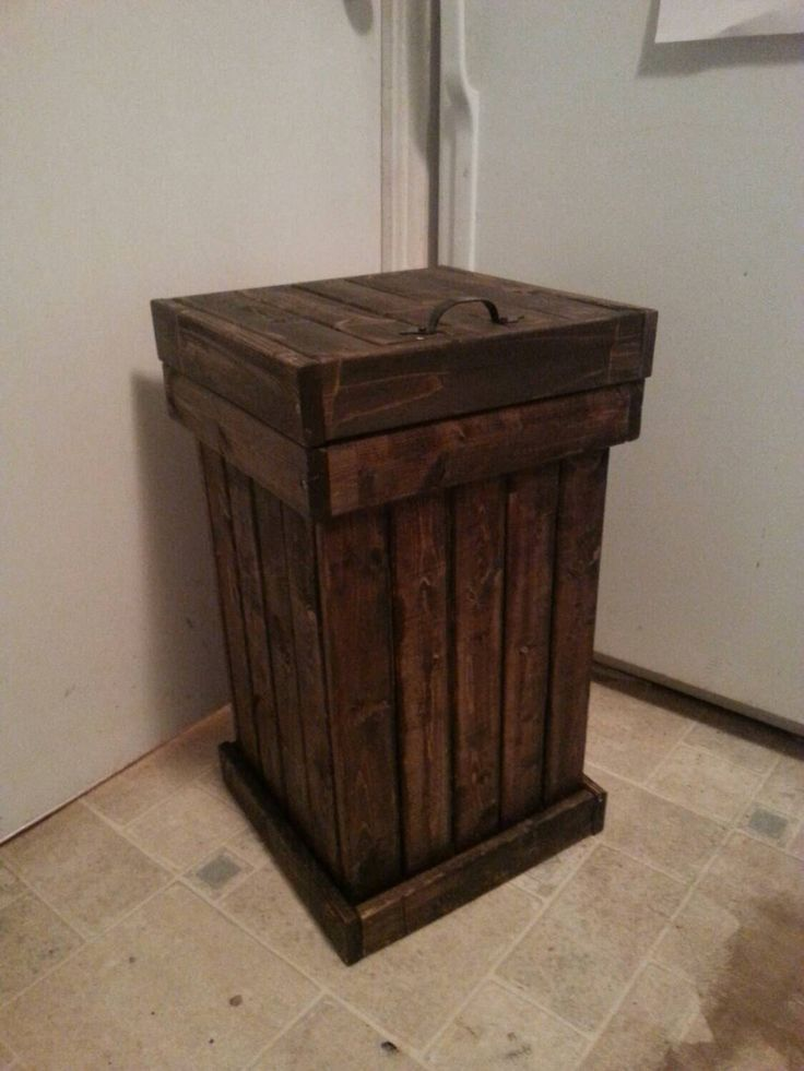 wooden kitchen garbage can / wood trash bin /  kitchen garbage bin / office garbage bin / office trash can by JulieEvesWoodworking on Etsy https://www.etsy.com/listing/264278359/wooden-kitchen-garbage-can-wood-trash