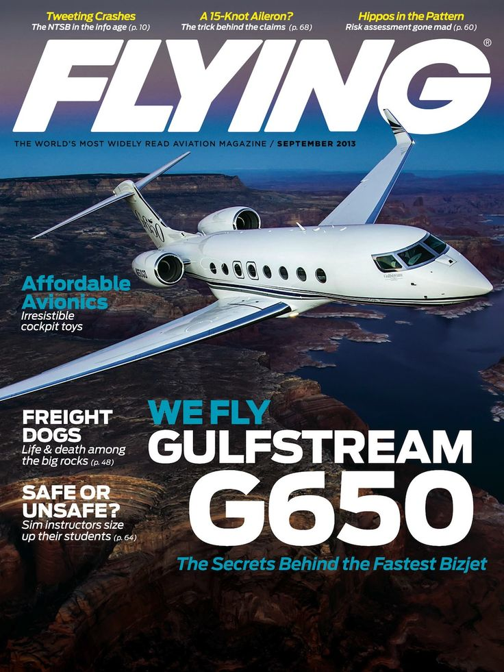 Flying Magazine September 2013 Cover - Gulfstream G650 ...