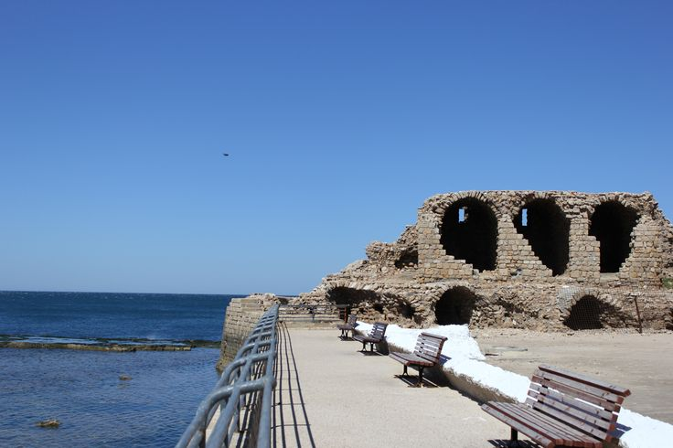 The remains of the great wall of Acre http://www.eggedtours.com/galilee-golan-heights/caesarea-acre-rosh-hanikra.aspx