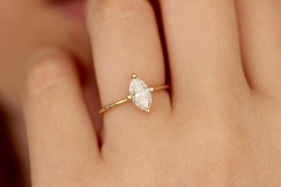 Marquise Cut Engagement Ring Marquise Cut Ring Diamond