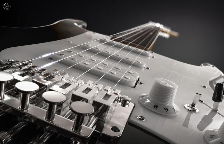 Beautifully done. Vintage Kramer guitar modeled in NX, rendered in KeyShot 5 by Magnus Skogsfjord.