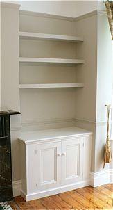Nigel Eaton floating shelves and alcove cupboard