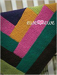 Cuddle Up Log Cabin Blanket Knit Pattern