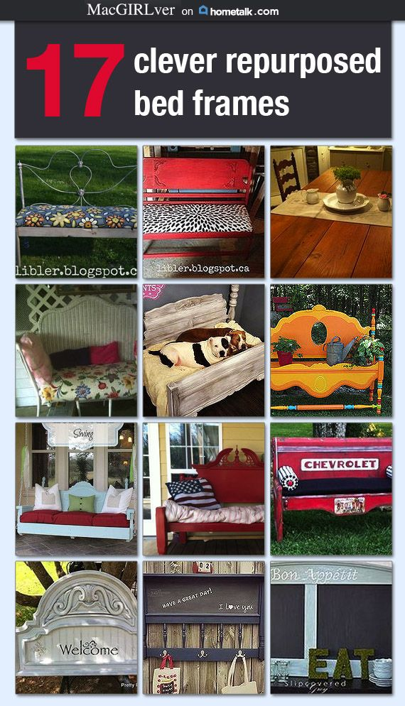 I've never thought of repurposing my old bed frame--but it totally makes sense! Totally doing the pet bed idea :)