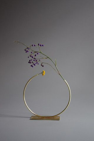 Anna Varendorff Brass Vase 9 - Almost a Circle