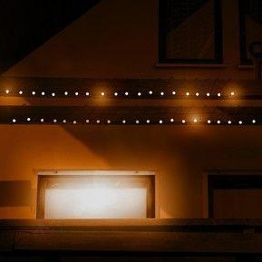 Solcelle-lyskæde med 48 kugler