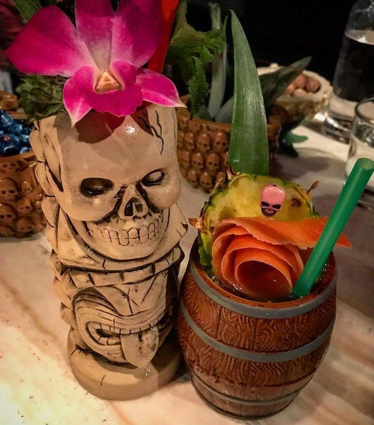 Sunday Funday! A Rum Barrel and a Skeleton Cocktail... we cant recall the name of the Skelton one! But they were great! @threedotsandadash  #sunday #sundayfunday #sundayvibes #sundayscaries #rum #barrel #drinks #gooddrinks #alc #chicago #drinkup #threedotsandadash #happyhour #happy #speakeasy #bar #barlife #mixeddrinks #cocktails #cocktail #cocktailhour #cocktailbar