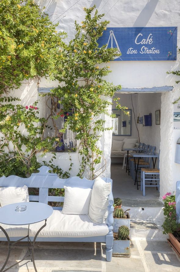 "Traditional cafe ""stou Stratou"" in Serifos , Greece"