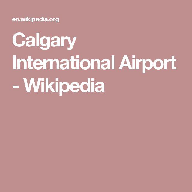 Calgary International Airport - Wikipedia