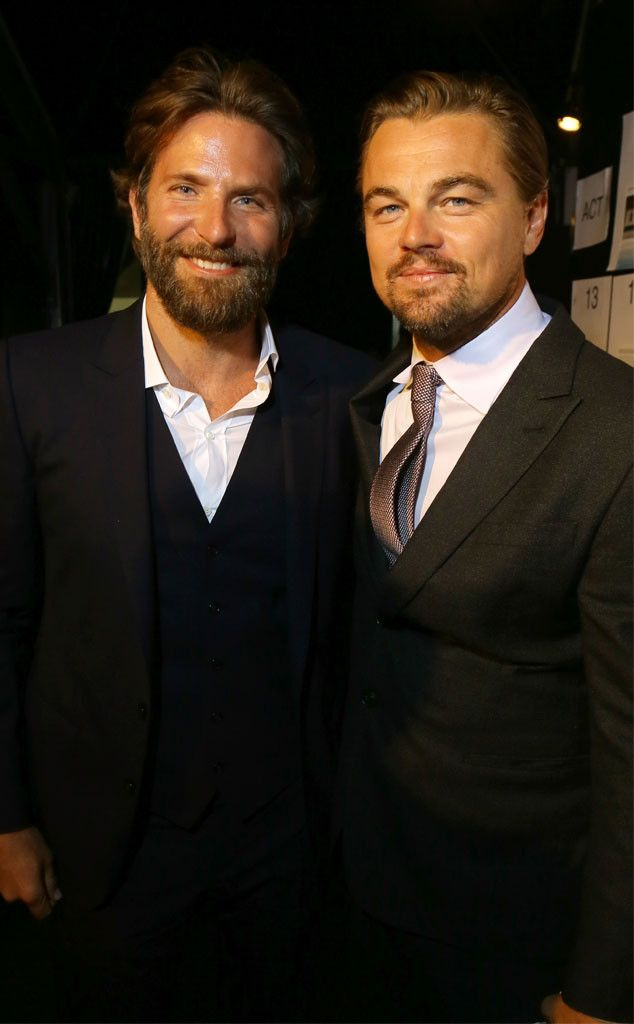 Bradley Cooper & Leonardo DiCaprio from The Big Picture: Today's Hot Pics  Hey there, hunks! The pair pose together during the Leonardo DiCaprioFoundationgala in St. Tropez.
