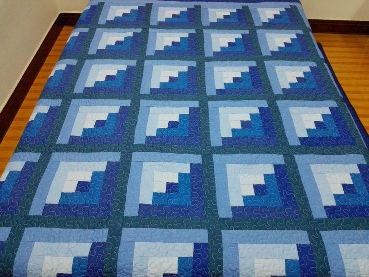 Edredón de patchwork acolchada máquina  medida: 90 X 90. tejido 100% algodón de bateo de algodón  Cosido en un hogar libre de humo