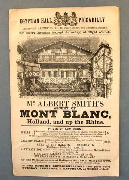 Panorama programme: Egyptian Hall, Piccadilly, London / Mr. Albert Smith's ascent of Mont Blanc - The Bill Douglas Cinema Museum