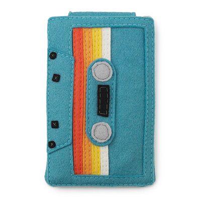 funda para ipod de cassete en fieltro - felt ipod case