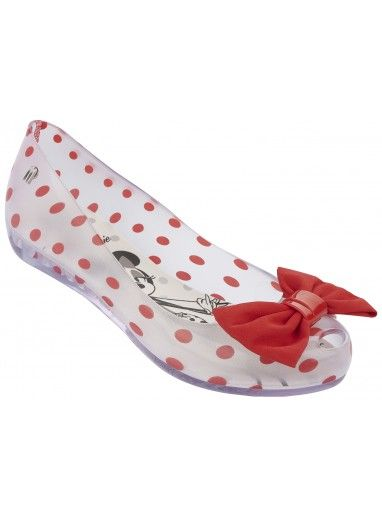 Melissa Shoes Minnie Mouse Ultragirl Bow Clear Red