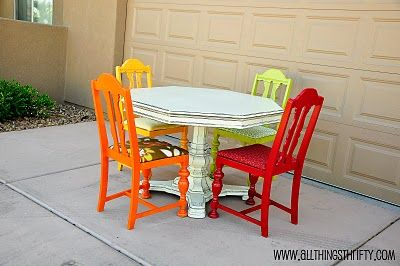 I want to do something like this with my table and chairs... different colors though...