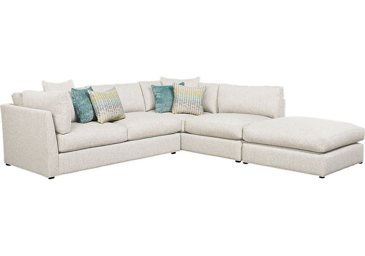 Boca Raton Off-White Left Facing Open 3 Pc Sectional .1988.0. 119.5W x 120D x 35.5H. Find affordable sofas for your home that will complement the rest of your furniture.