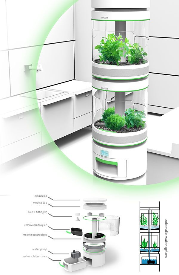 Personal Hydroponics Inspired By Larger Vertical Farming