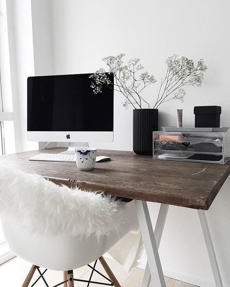 Scandinavian styled desk – so modern and fresh. th…
