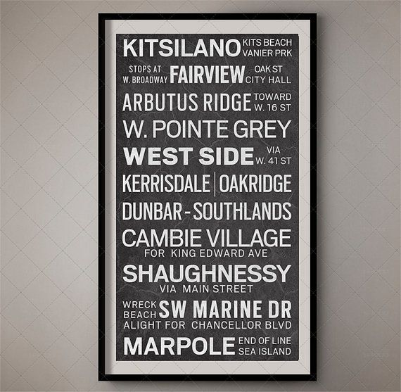 Vancouver Canada British Columbia City Transport Scroll /