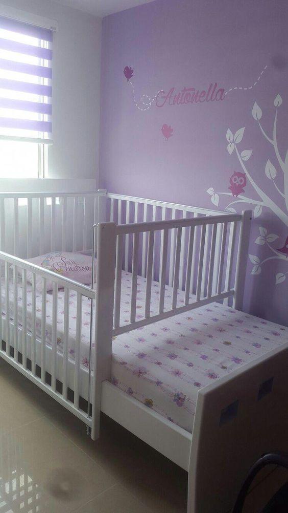 Babydekoration Lila #DecoracionCuartoPared