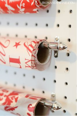 holiday gift wrap station | the handmade home