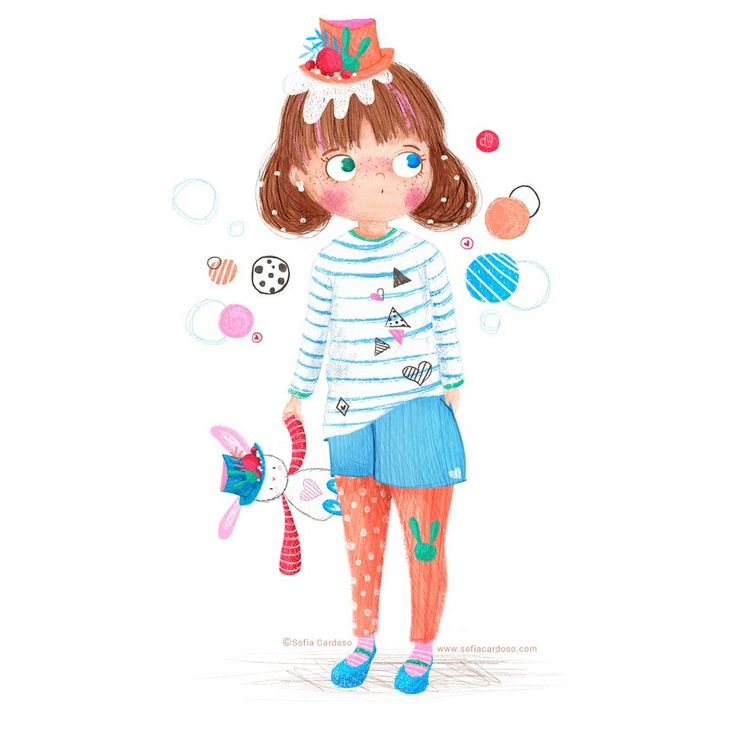 """Curiouser and curiouser!""  children's illustration by Sofia Cardoso #illustration #kidlitart"