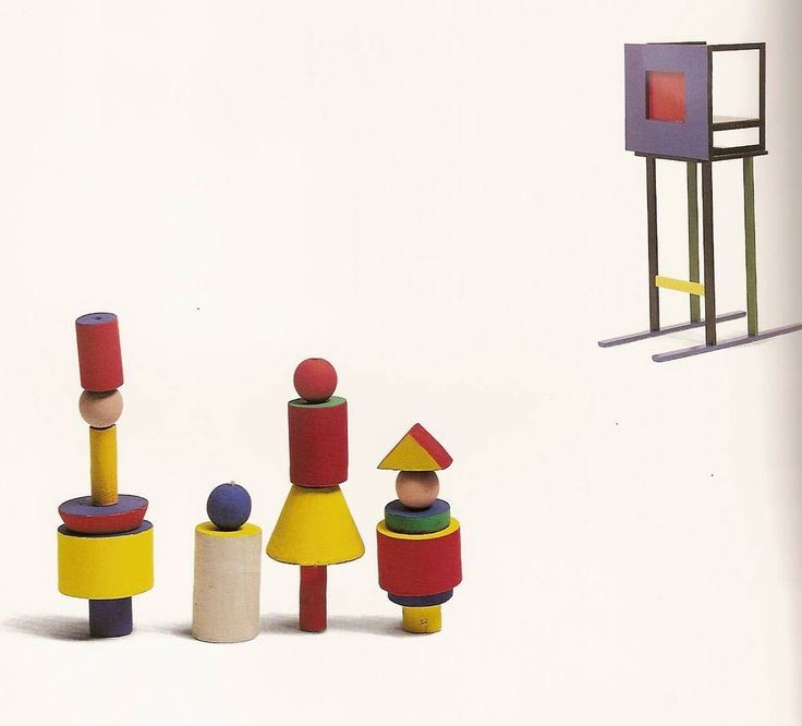 Reproduction of Alma Siedhoff-Busher's Building Set produced by Kurt Naef