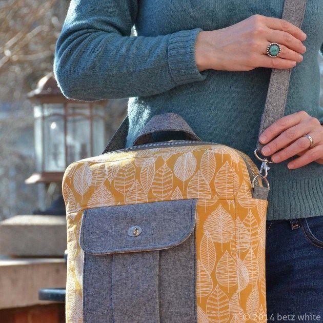 Cross-Body Bag Multi-style et Sac à dos Patron de couture + Comment faire pour installer un Catch Tuck