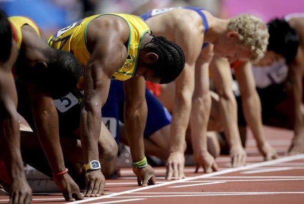 London Olympics Athletics Men photo Perpetuelle richard mille Yohan Blake http://lovetime.fr/