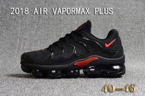 online store a2cf7 aabe4 Mens Nike Air Vapormax Plus KPU TN + 2018 Black Red Casual Sneakers ...