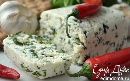 Ароматный домашний сыр с тмином и зеленью | Кулинарные рецепты от «Едим дома!»