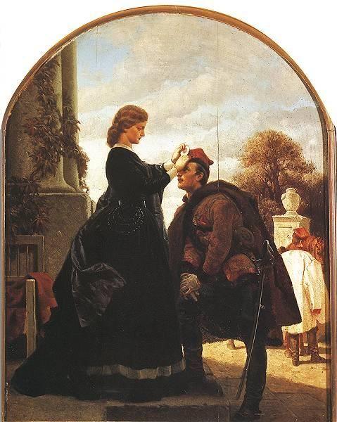 Artur Grottger - Pożegnanie powstańca, 1866