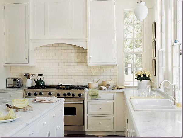 Love white kitchens and all the natural light