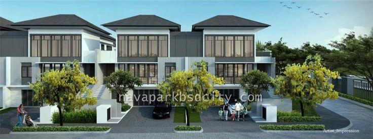 Rumah cluster Lakewood NavaPark Tipe 12.