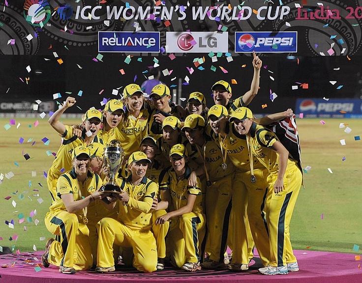 Australian won the Women's World Cup Trophy 6th time, 2013, Mumbai.
