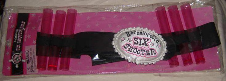 Party Posse Bachelorette Six Shooter Belt Girls Night Out Shot Glasses  NEW  #Am…