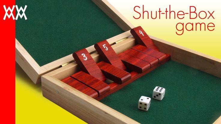 Make a wood shutthebox game free plans free video