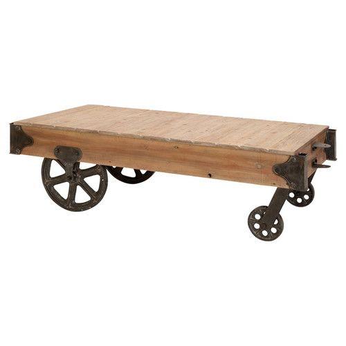 Found it at Wayfair - Loft Wood Utility Cart / Coffee Table
