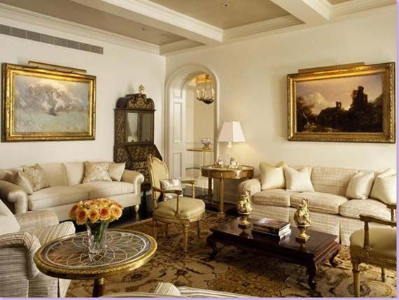 Elegant Country Style Living Room Interior Design Pinterest