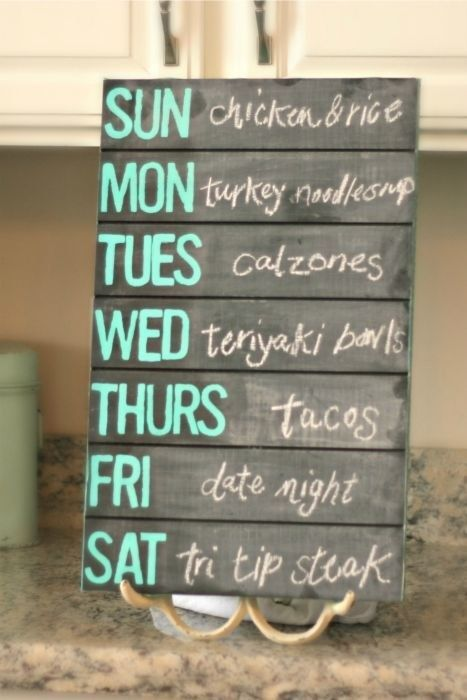 Write out your weekly dinner plan at the start of the week. Better yet, make it…