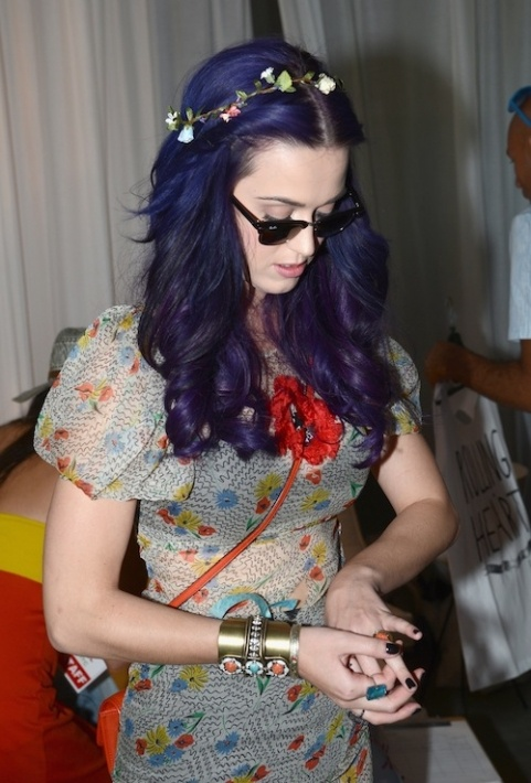 Katy Perry attends the LACOSTE L!VE Pool Party presented by HTC in Thermal, Calif., during Coachella on Apr. 14.