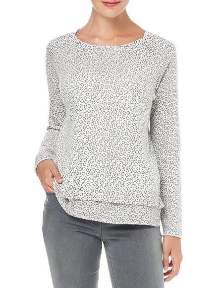 Oversized jumper, grey print buy now | GERRY WEBER