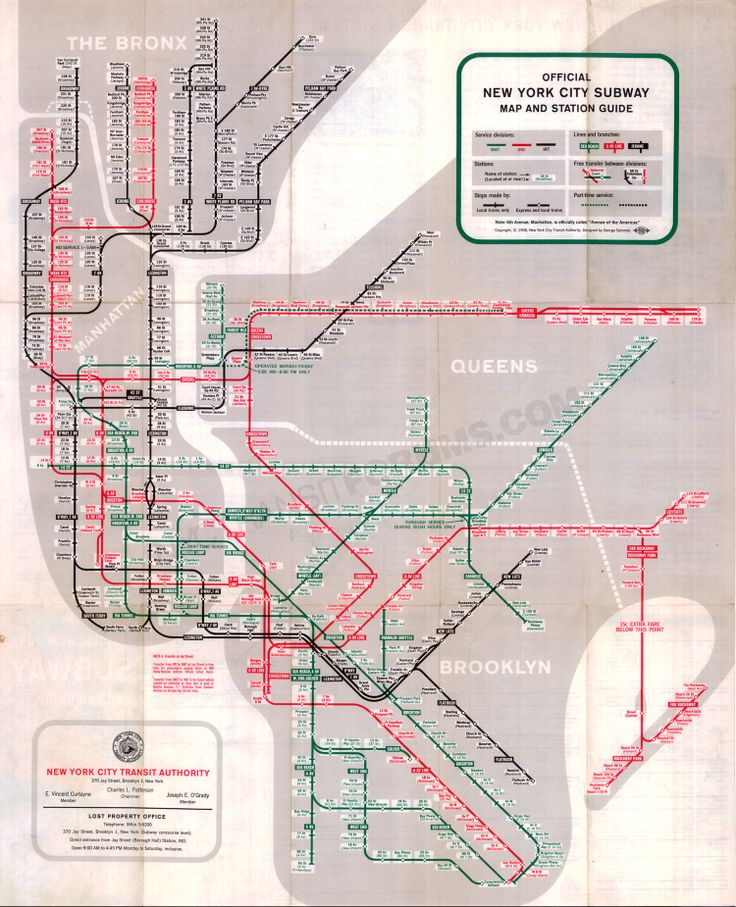 11 Best Images About New York City Subway Maps On