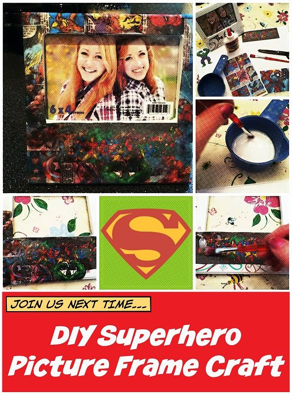 DIY Superhero Picture Frame Craft for Father's Day--Pin it for later!