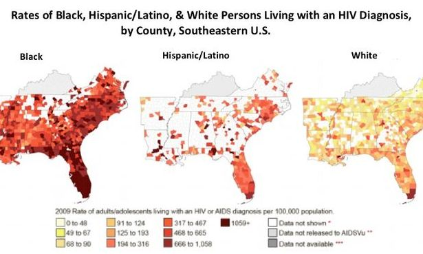 HIV/AIDS and Latinos in the Deep South:  More than 2 million Latino people live in these states, which have seen a more than 400 percent increase in that demographic since the 1990 census.