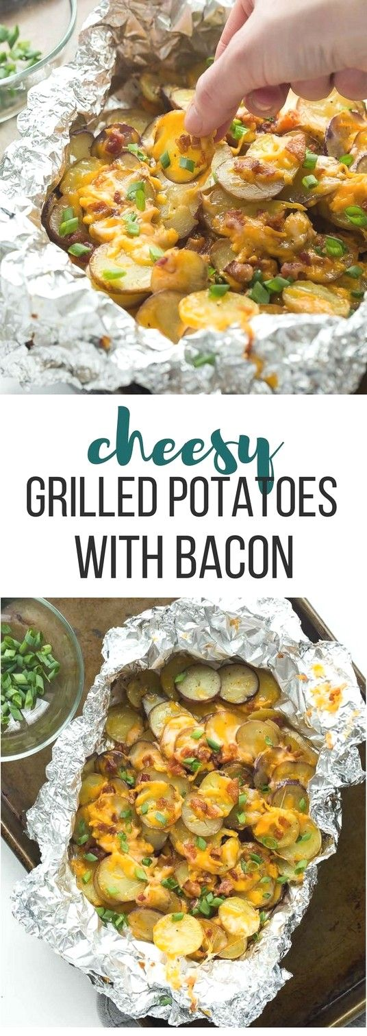 Foil Pack Recipes | Grilled potatoes with bacon   – Foil Pack Recipes