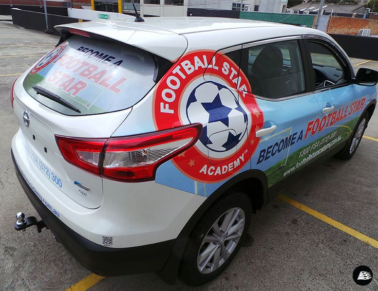 Football Star Academy Vehicle Wrap | Nissan Qashkai #vehiclewrap #soccer #training #smallbusiness #advertising #AutoSkin