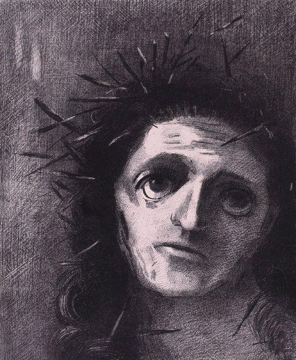 Musée Beaux-Arts de #Bordeaux @mbabx : #GraphicBattle Un rdv chez le coiffeur ne ferait pas de mal au Christ de #Redon #ExpoFabrique #Angers #drawing #dessin #exhibition