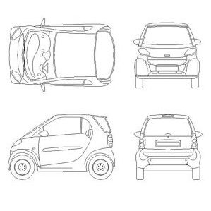 17 best images about smart car on pinterest creative for Cad car plan